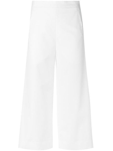 Andrea Marques cropped women spandex white cotton pants