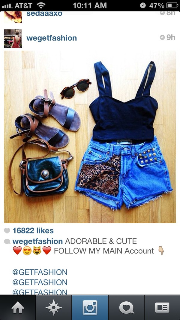 shorts High waisted shorts leopard print shirt shoes