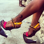 shoes,heels,studs,sexy,platform shoes,colour block,high heels,spikes