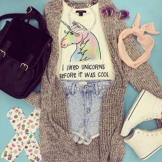 t-shirt unicorn unicorns be like hipster shirt tank top crop tops shorts socks bag vest jewels shoes sunglasses black pink white brown green purple sweater
