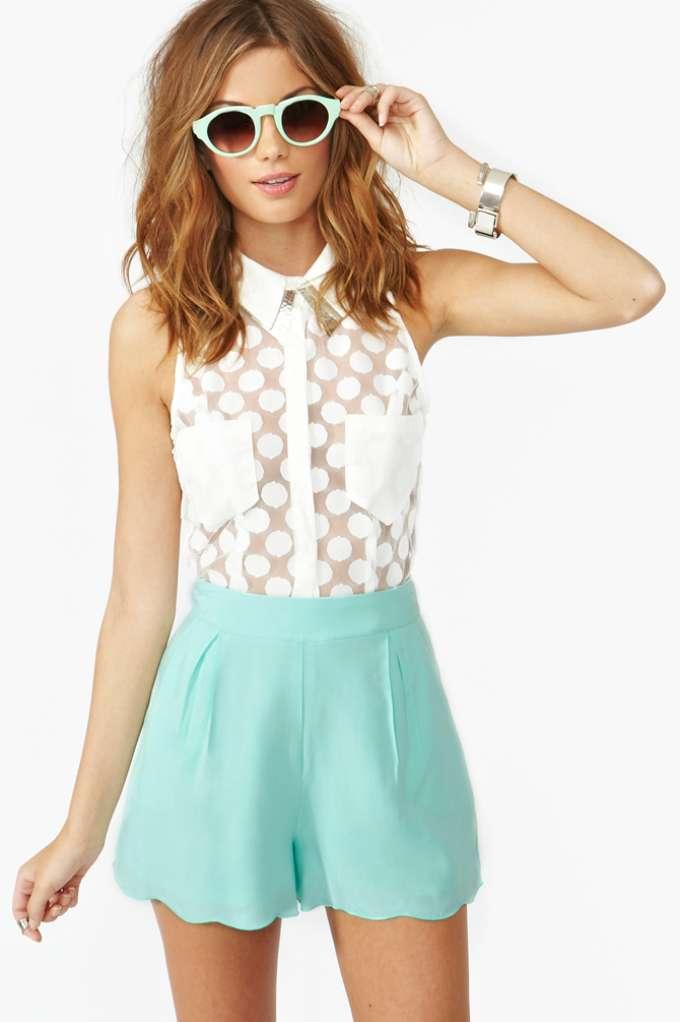 Veracruz Shorts - Mint | Shop Clothes at Nasty Gal