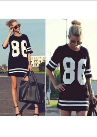 dress trendy fashion black dress style sportswear red lime sunday