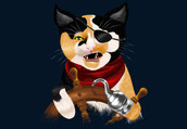 shirt,abstract,art,design,style,illustration,swirly,dbh,cats,pirate,funny