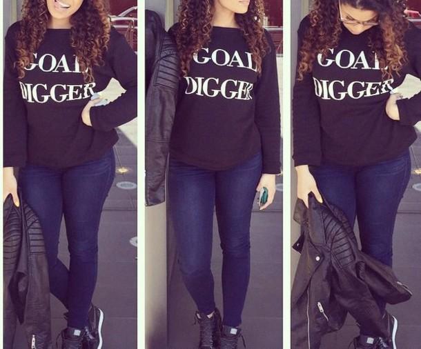 sweater goal digger sweatshirt jacket