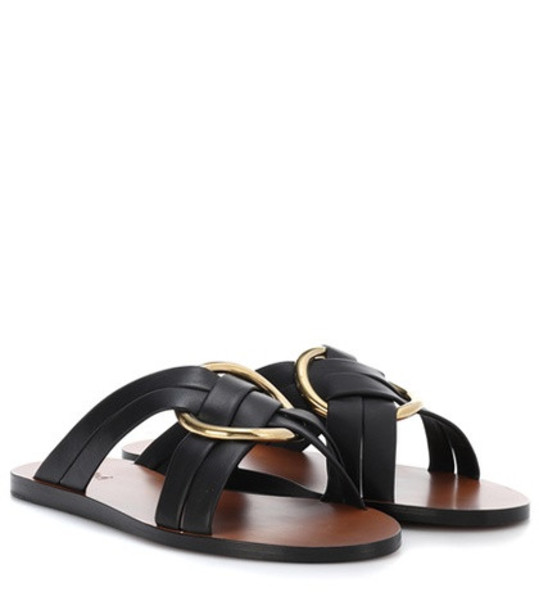 Chloé Leather sandals in black
