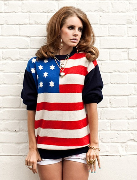 Lana Del Rey Wearing A Forever 21 Sweater Available For 25 At