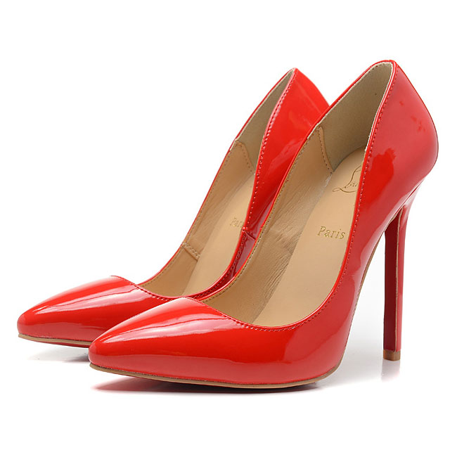 Cheap red patent leather pigalle christian louboutin 120mm pointed toe pumps