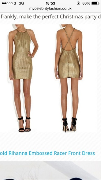 dress beautiful gold rihanna river island is this still in store omg