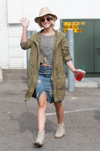 skirt denim denim skirt julianne hough jacket ankle boots spring skirt shoes