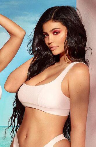 swimwear bikini bikini top bikini bottoms kylie jenner kardashians editorial