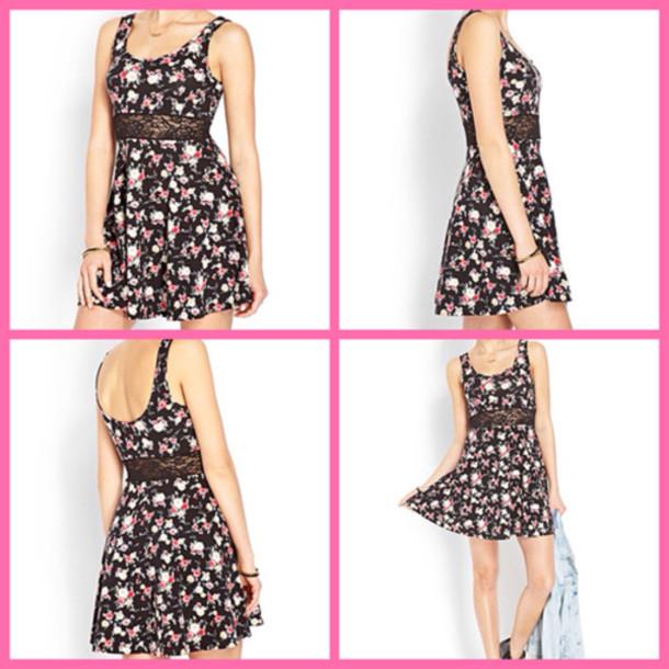 dress flowered flowers belt