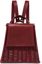 backpack,leather backpack,leather,burgundy,bag