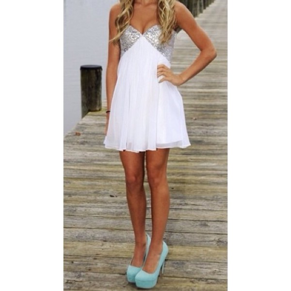 dress homecoming dress white dress cute dress shoes