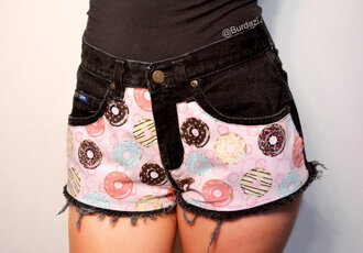donut fashion hipster hipster shorts high waisted shorts