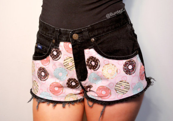donut fashion hipster hipster shorts High waisted shorts