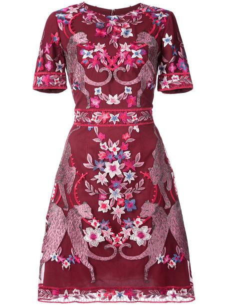 Marchesa Notte dress cocktail dress short women floral red