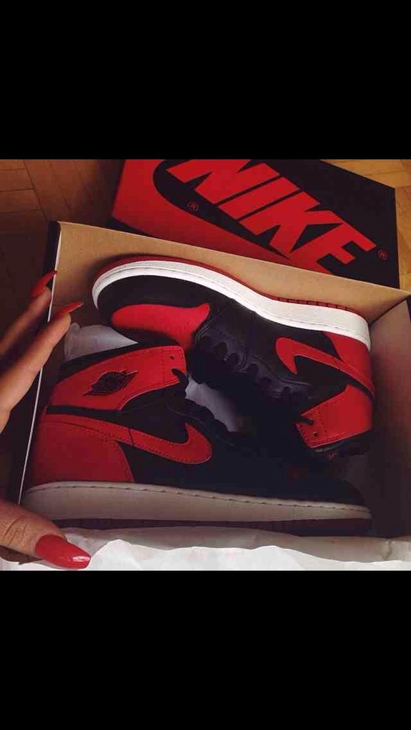 shoes black red and black nike red