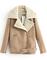 Manteau en revers zippé avec poches