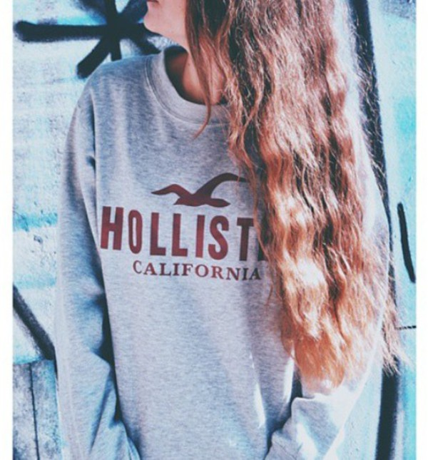 sweater hollister hollister hoddie grey fashion. Black Bedroom Furniture Sets. Home Design Ideas
