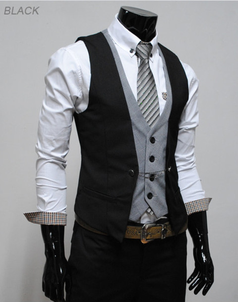 Shirt: vest, mens suit, menswear, jacket, clothes, menswear ...