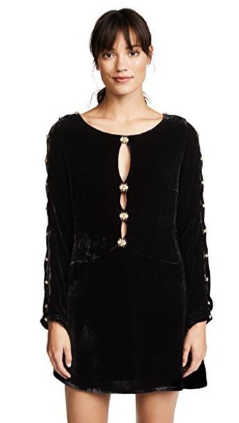 For Love & Lemons dress velvet noir