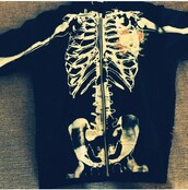 sweater,ed hardy,bones,bones sweater,skeleton