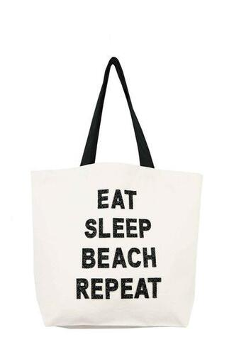 bag beach bag black and white fallon and royce tote bag bikiniluxe