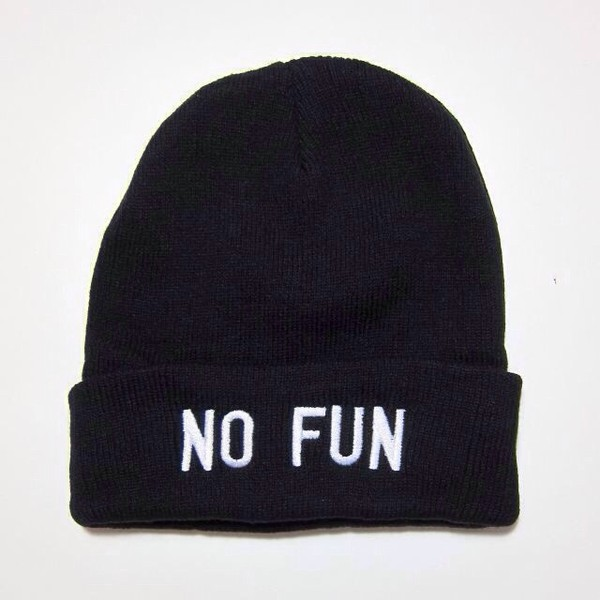 hat beanie black black beanie no fun winter outfits warm no fun beanie cute tumblr