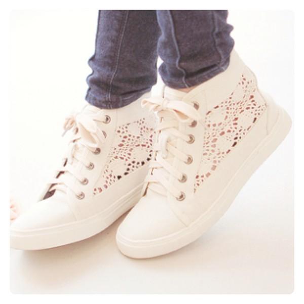 shoes white cute