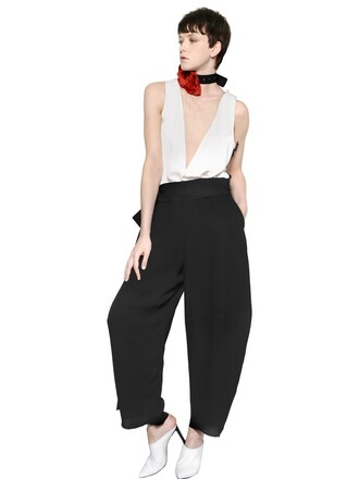 jumpsuit sleeveless white black