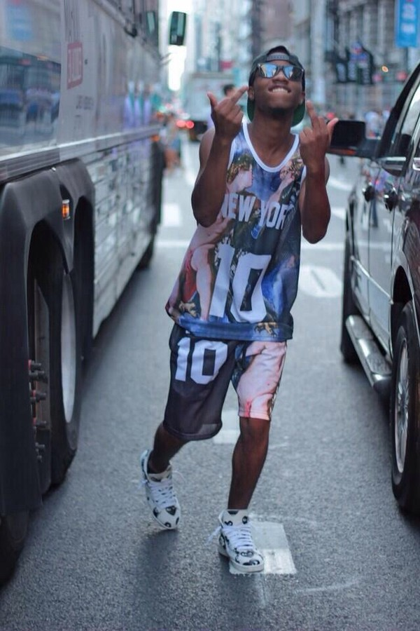 Tank top new york city pattern vest jersey shirt new york 10 dope dope dope dope dope ...