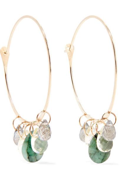 Melissa Joy Manning earrings hoop earrings gold jewels