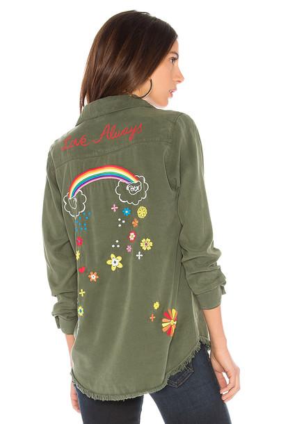 Lauren Moshi shirt button up shirt green top