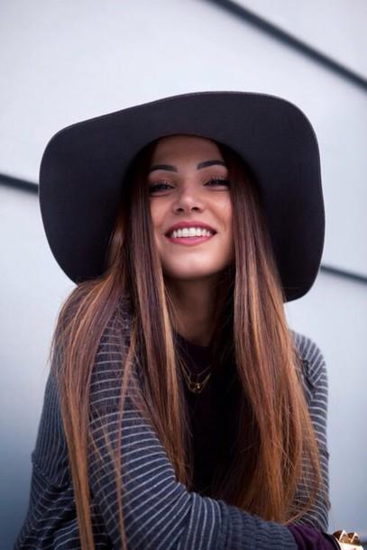 hat black black hat big hat