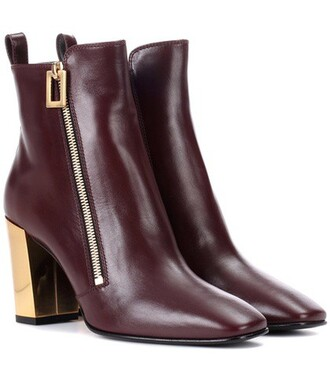 leather ankle boots zip boots ankle boots leather red shoes