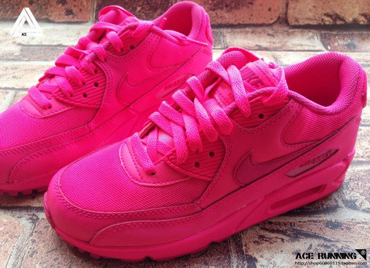 Nike Air Max 90 2007 GS Hyper Pink Vivid Color Pack QS 345017 601 NEW SZ:3.5y 7y