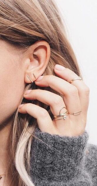jewels gold jewelry minimalist jewelry gold ring stacked jewelry gold earrings nordstrom