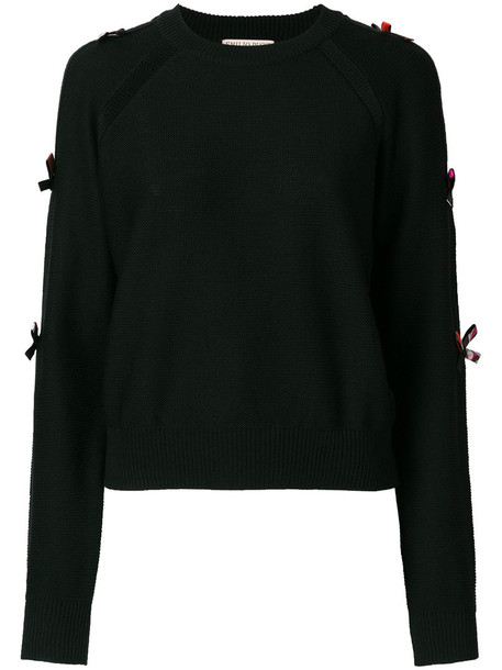 Emilio Pucci sweater bow women embellished black wool