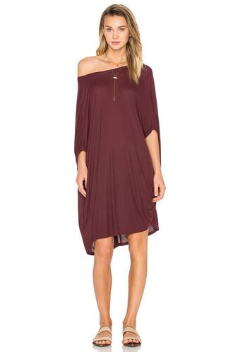 tunic draped burgundy