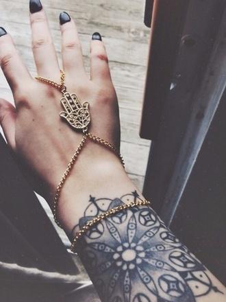 jewels gold fatima hand ring chain fatima bracelets