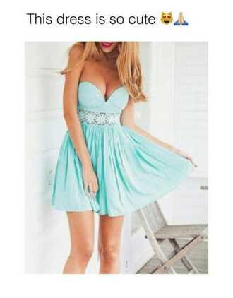 dress fashion mint straples