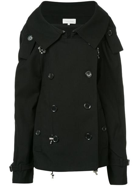 cape women black wool top