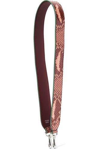 rose python bag leather bag leather