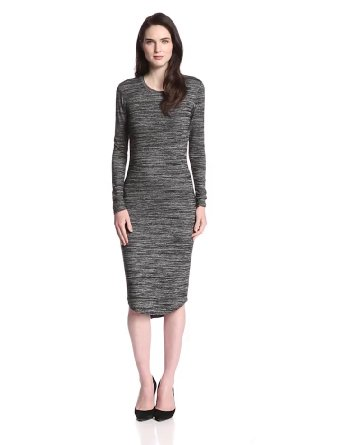Rd style women's long sleeve knit midi high low dress