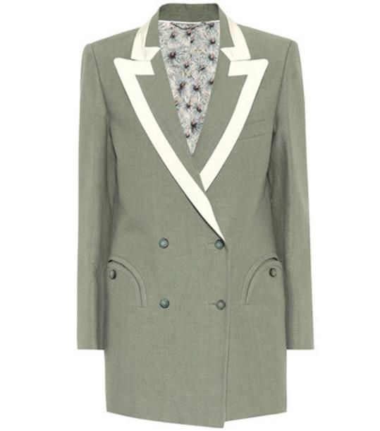 Blazé Milano Everyday linen blazer in green