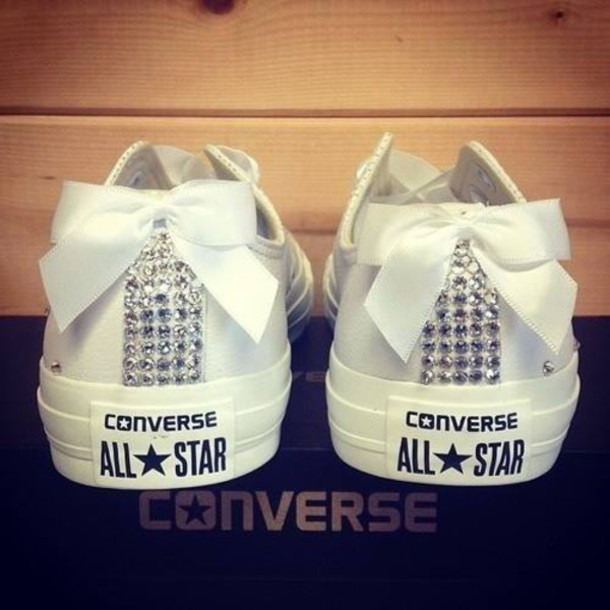 482691fea6c2 shoes converse retro noeud sparkle white converse bling bow pretty allstars  jewels i guess idk ribbon