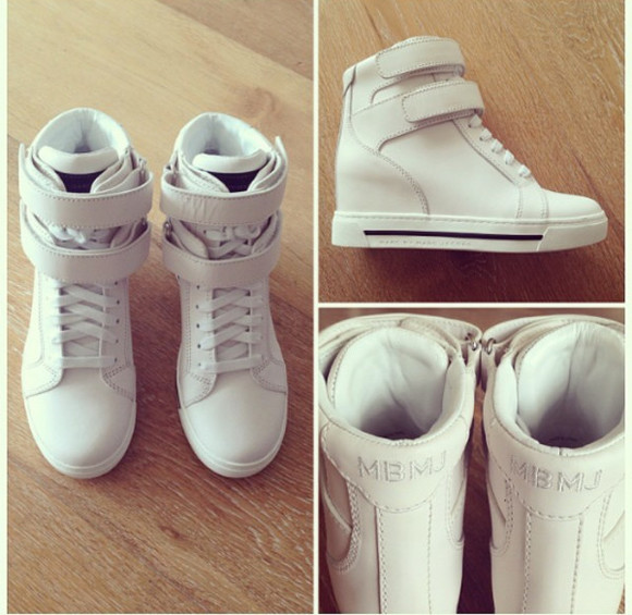 marc by marc jacobs marc jacobs cream sneakers wedges wedge sneakers