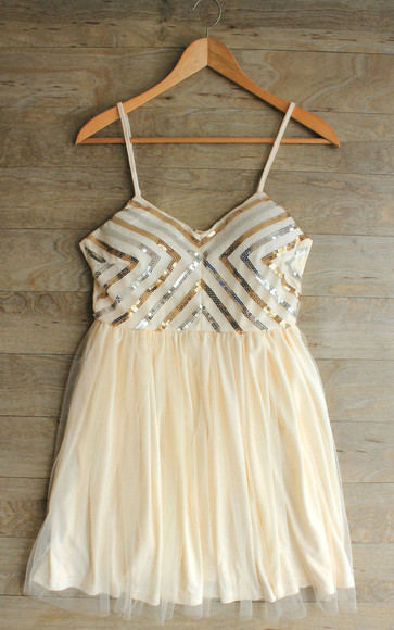 dress prom dress sequin dress party dress girly chevron sequin dress chevron dress white prom dress ivory prom dress sequin prom dress
