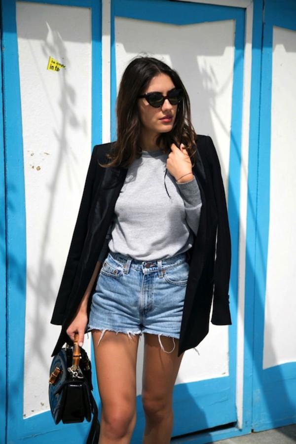le fashion image sunglasses jacket bag