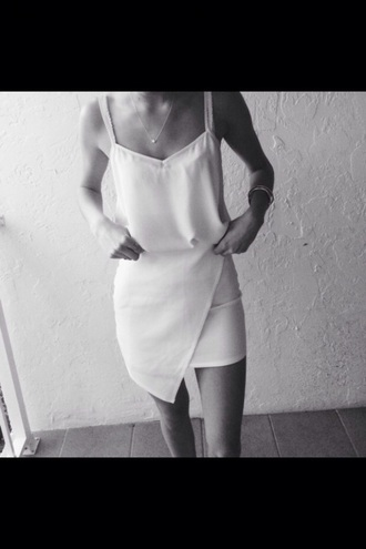 dress asymmetrical dress asymmetrical skirt white dress